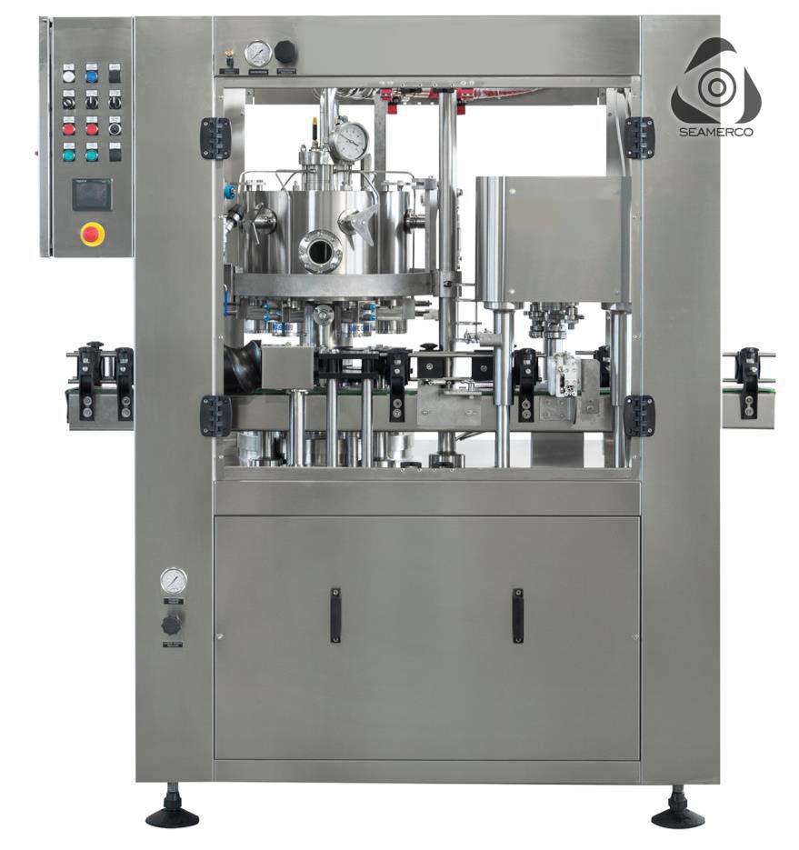 دستگاه دربندی قوطی فلزی Seamer