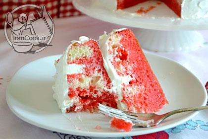 ژلو کیک دو رنگ