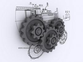 طراحی قطعات و ماشین آلات صنعتی
