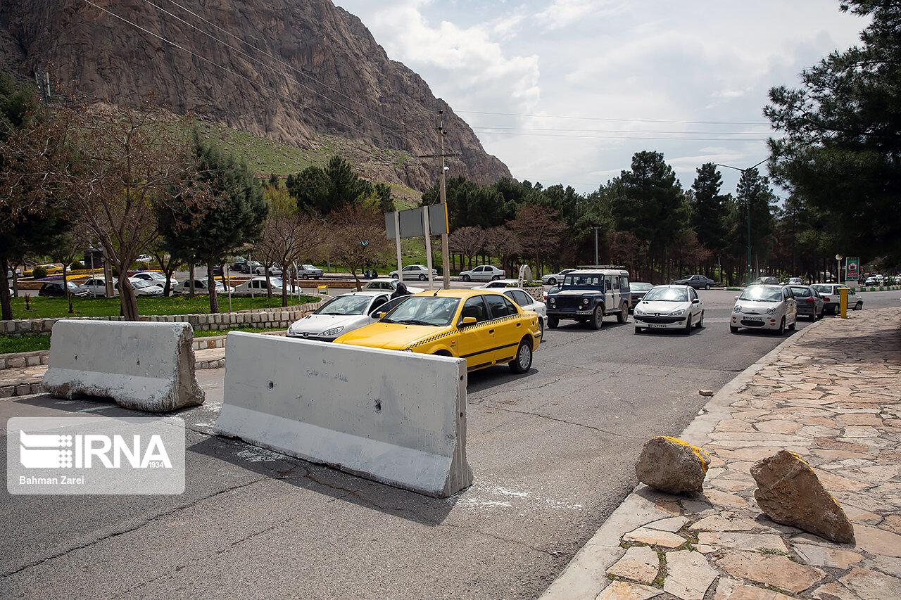 مسیر دسترسی به پارک های شهری خرم آباد بسته شد