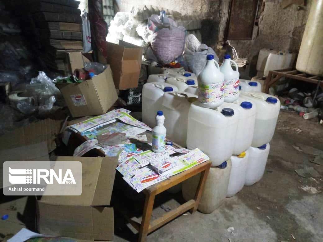 کشف بیش از سه هزار لیتر مواد ضدعفونی کننده در خرمآباد